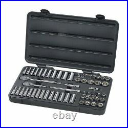 GearWrench 80550 57pc 3/8 Drive 6pt SAE/Metric Socket Set with84 Tooth Ratchet
