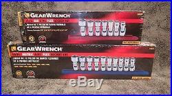 GearWrench 80564 & 80565, 7-Pc SAE 6pt & 10-Pc METRIC 6pt FLEX SOCKET SETS