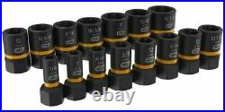 GearWrench BOLT BITER IMPACT EXTRACTION SOCKET SET 15Pcs 1/4 & 3/8 Drive