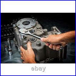 GearWrench Mechanics Tool Set 1/2 Drive SAE/Metric Standard Deep (49-Piece)