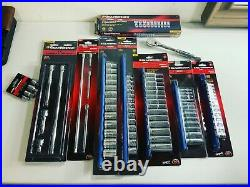 GearWrench Metric Kit + Adapters, Extensions, Swivel, Deep, Shallow