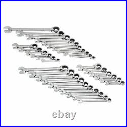 Gearwrench 32 pc Ratcheting Wrenches Set Standard SAE MM Metric Stubby Tools