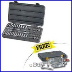 Gearwrench 57 Pc 3/8 Drive 6 Pt SAE/Metric Socket Set 80550 Free 80300P 120xp