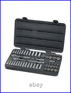 Gearwrench 57-Piece 3/8 Drive 6 Point SAE/Metric Socket Set KDT80550 Brand New