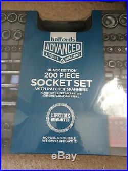 Halfords Advanced 200 Pc Limited Edition black Socket & Ratchet Spanner Set