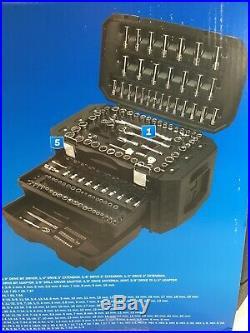 Hart Multiple Drive 215 Piece Mechanics Tool Set, Chrome Finish, New