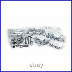 Husky Mechanics Tool Set Combination Wrench Hex Keys Ratchet Silver (349-Piece)