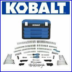 Kobalt 227-Piece Standard (SAE) and Metric Polished Chrome Mechanic's Tool Set
