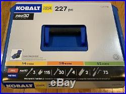 Kobalt 227-piece Pc Standard Sae Metric Polished Chrome Mechanics Tool Set 227pc