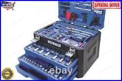 Kobalt 232-PCS Standard SAE and Metric Polished Chrome Mechanics Tool Sets NEW