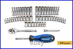 Kobalt 232 Piece Standard (SAE) and Metric Polished Chrome Mechanic's Tool Set