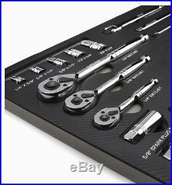 Kobalt 300 Piece Mechanic's Tool Set Standard (SAE) and Metric Polished Chrome