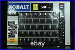 Kobalt 300-Piece Standard (SAE) and Metric Polished Chrome Mechanics Tool Set