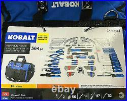 Kobalt 364 Piece Household & Mechanic Tool Set with Heavy Duty Tool Bag 10031 NEW