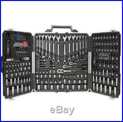Kobalt Universal 200-Piece Standard SAE & Metric Black Oxide Mechanics Tool Set