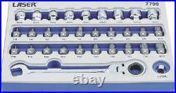 Laser Tools 7799 Low Profile Bit & Go Thru Alldrive Socket Set 31pc