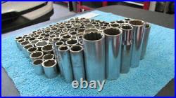 Lot of 125 Vintage Craftsman U. S. A. Sockets 1/4, 3/8, 1/2 Metric & SAE