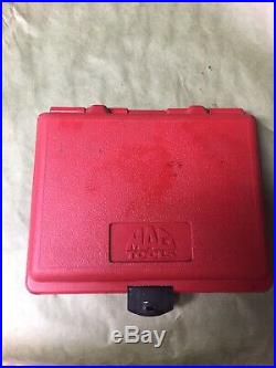 MAC TOOLS 1/4 DRIVE SOCKET SET 44 PCS STANDARD & METRIC DEEP & SHALLOW wCASE