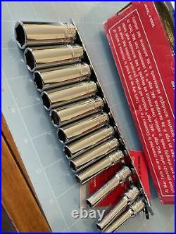 MAC TOOLS edge 12 PIECE SAE 1/4 Dr 6 Point Metric SOCKET SET