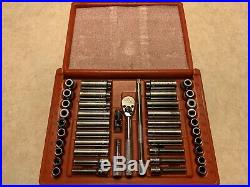 MAC Tools 44 pc Socket Set SMM446BR 1/4 Drive SAE & Metric Shallow & Deep Lnib