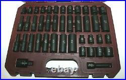 MATCO SBP426V 3/8 42 Pc METRIC & SAE 6 POINT STANDARD & DEEP IMPACT SOCKET SET