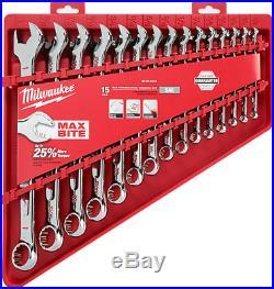 MILWAUKEE 15pc Combination Wrench Set SAE 48229415 NEW
