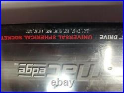 Mac Tools 7 Pc SAE- Edge Non-Slip 3/8 Drive Metric Socket Set 6mm-19mm NEW