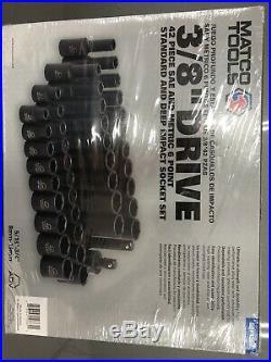 Matco SBP426V 3/8 Drive ADV 42PC Metric & SAE 6PT Standard/Deep Impact Sockets