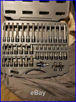 Matco Silver Eagle 46 Piece Socket Bit Driver Set with Case 1/4 3/8 SBS46SE