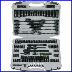 Mechanics Tool Set Socket Ratchet Wrench Deep Shallow Metric SAE Screwdriver Bit