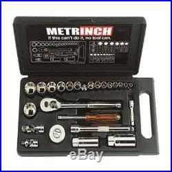 Metrinch 1/4 & 3/8 Drive 25pc Socket Set = 53pc Conventional Set SAE Metric