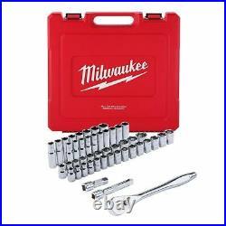 Milwaukee 1/2 Drive 47 Piece Ratchet and Socket Set SAE & Metric 48-22-9010