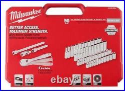 Milwaukee 48-22-9004 50pc 1/4 SAE/Metric Ratchet and Socket Mechanics Tool Set
