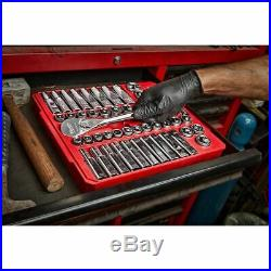 Milwaukee 48-22-9010 1/2 Drive 47 Piece Ratchet and Socket Set SAE & Metric