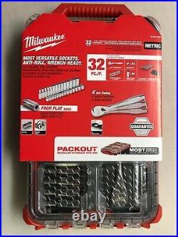 Milwaukee 48-22-9482 Packout Metric 32 piece 3/8 Ratchet + Socket set NEW