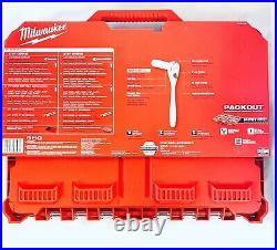 Milwaukee 48-22-9486 1/4 & 3/8 Metric & SAE Ratchet and Socket Set with Packout