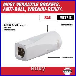 Milwaukee Drive SAE/Metric Ratchet Socket Mechanics Tool Set Steel Case 153-Pcs