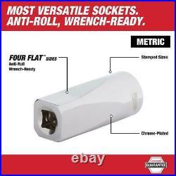 Milwaukee Ratchet Socket Mechanics Tool Set 3/8 Drive Metric PACKOUT Case 32 Pc