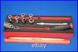NEW 2020 6 Piece 3/8 Drive Spark Plug Red Soft Grip General Service Foam Set