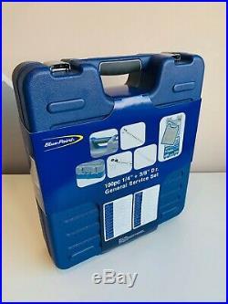NEW Blue-Point 100-pc 1/4 & 3/8 Dr General Service Socket Set 2100MBPGSSUK