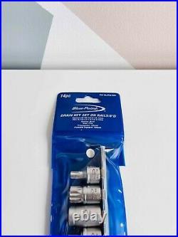 NEW Blue-Point 14-pc 3/8 Drive Drain Key Set + Rail ITC5142A