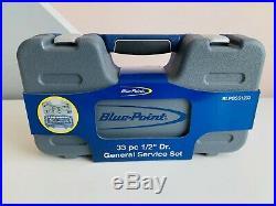 NEW Blue-Point 33-pc 1/2 Dr. SAE/Metric General Service Socket Set BLPGSS1233