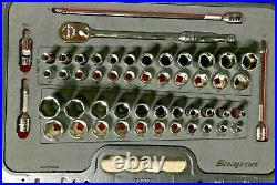 NEW Snap-On 51-piece 3/8 Drive Socket Set Ratchet Kit Case Foam 251FSMBFR RARE