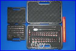 NEW Snap-On FDX 44 Pc 1/4 Drive & 51 Pc 3/8 Metric & SAE General Service Sets