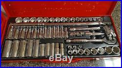 NEW T&E Socket Set 3/8drive 12 Point Standard & Deep Sae/Metric T&E Tools 93748