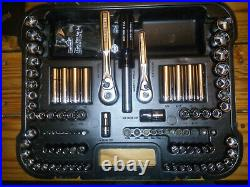 NEW USA NOS Craftsman Mechanics Tool Kit Socket Set 3/8 1/4 Metric SAE 106 Pc