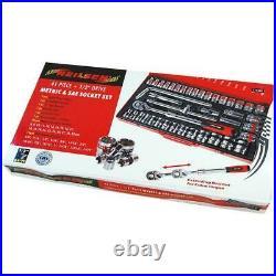 Neilsen 41pce COMPREHENSIVE AF & METRIC Socket Set 1/2 inch drive CT1340