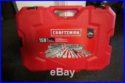 New CRAFTSMAN 159 Piece SAE/MM Standard & Metric MECHANICS TOOL SET CMMT12025