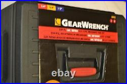 New GearWrench 239pc 6pt Metric SAE Shallow Deep Socket Wrench Ratchet Set 80942