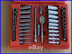 New! Snap On Tools 144TMPB 44pc General Service Socket Set 1/4 Dr